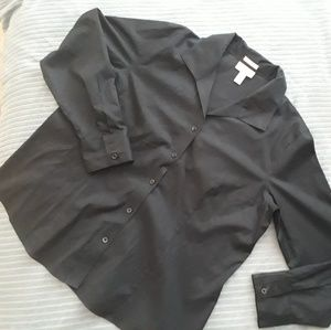 Chico's Black Button down Shirt